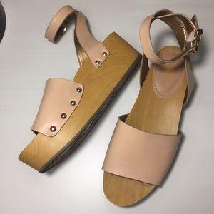 Sam Edelman Wooden Platform Sandals 8.5